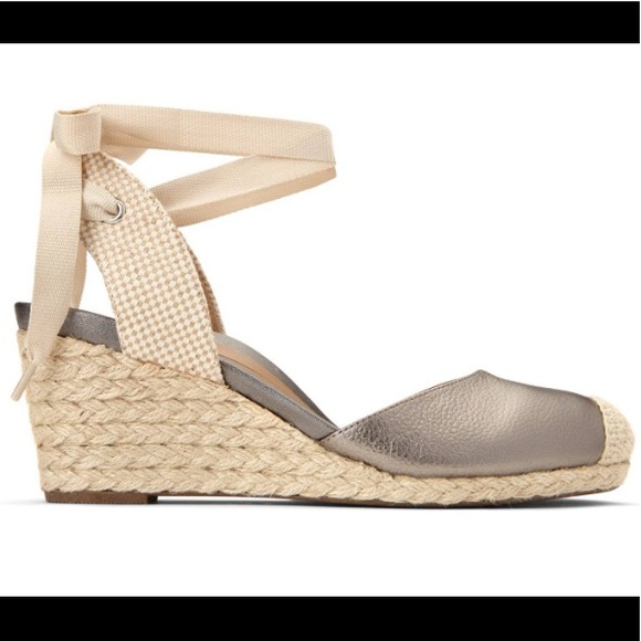 7fe1213cfe5 Canvas espadrille wedge lace ankle wedge heel 9.5.  M 5be61c678ad2f96fdee01d6e